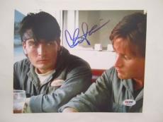 Charlie Sheen Signed Men At Work Auto 8x10  Psa/dna Itp