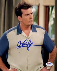 Charlie Sheen Signed Photo 11x14 - PSA/DNA