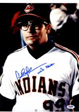 "Charlie Sheen Signed Photo with ""Wild Thing"" Inscription 11x14 - PSA/DNA"