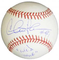 Charlie Sheen Signed Rawlings Official MLB Baseball w/Wild Thing #99