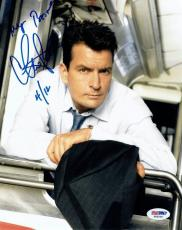Charlie Sheen Signed Two & A Half Men Autographed 8x10 Photo PSA/DNA #X82006