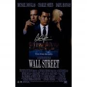 Charlie Sheen Signed Wall Street 11x17 Poster
