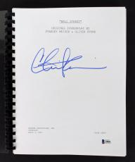 Charlie Sheen Signed Wall Street Movie Script BAS Witnessed #I38841
