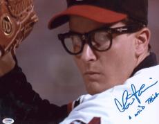 "Charlie Sheen Signed ""wild Thing"" Inscribed 11x14 Photo Autographed Psaitp"