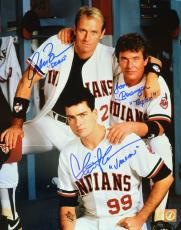 Charlie Sheen, Tom Berenger & Corbin Bernsen Autographed Major League 11x14 Photo