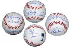 Charlie Sheen, Tom Berenger, Corbin Bernsen & Chelcie Ross Autographed MLB Baseball