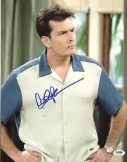 Charlie Sheen Two & A Half Men Signed 11X14 Photo PSA/DNA ITP #3A91983