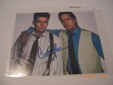 Charlie Sheen Two And A Half Men Smudged W/coa Signed 8x10 Photo