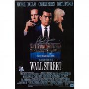 "Charlie Sheen Wall Street Autographed 11"" x 14"" Movie Poster - BAS"