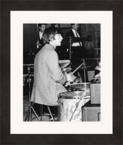 Charlie Watts autographed 8x10 photo (Rolling Stones Drummer) #1 Matted & Framed