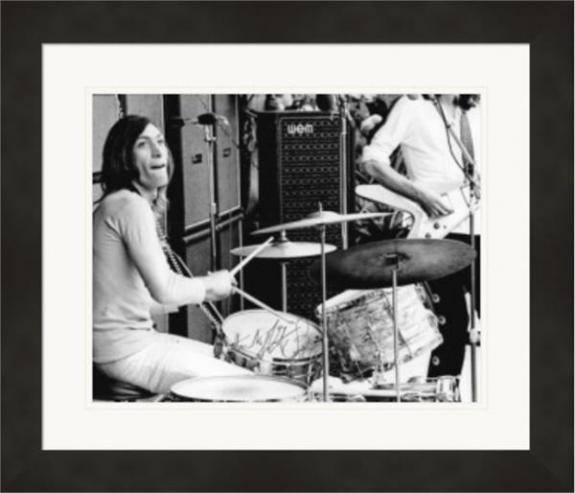 Charlie Watts autographed 8x10 photo (Rolling Stones Drummer) #5 Matted & Framed