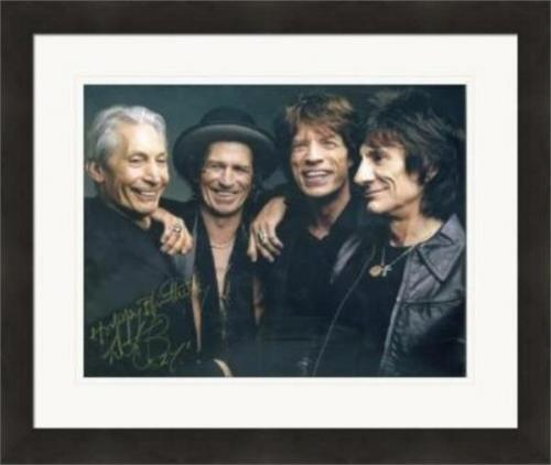 Charlie Watts autographed 8x10 photo (Rolling Stones Drummer) #SC11 Matted & Framed
