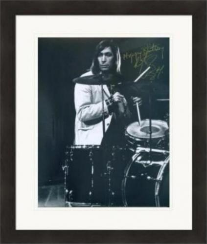 Charlie Watts autographed 8x10 photo (Rolling Stones Drummer) #SC12 Matted & Framed
