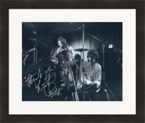 Charlie Watts autographed 8x10 photo (Rolling Stones Drummer) #SC13 Matted & Framed