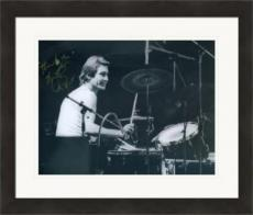 Charlie Watts autographed 8x10 photo (Rolling Stones Drummer) #SC16 Matted & Framed