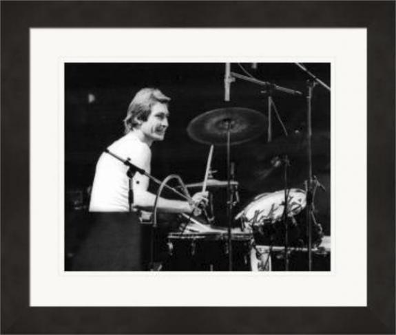 Charlie Watts autographed 8x10 photo (Rolling Stones Drummer) #SC17 Matted & Framed