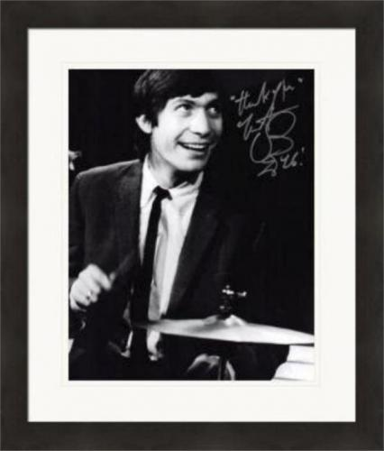 Charlie Watts autographed 8x10 Photo (Rolling Stones Drummer) #SC4 Matted & Framed