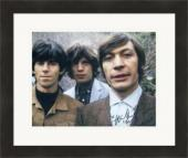 Charlie Watts autographed 8x10 Photo (Rolling Stones Drummer) #SC6 Matted & Framed