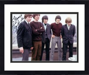 CHARLIE WATTS HAND SIGNED 8x10 COLOR PHOTO     ROLLING STONES    TO JAMES    JSA