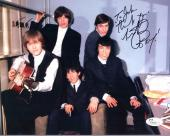 CHARLIE WATTS HAND SIGNED 8x10 COLOR PHOTO     ROLLING STONES    TO JOHN     JSA