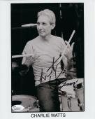 CHARLIE WATTS HAND SIGNED 8x10 PHOTO         ROLLING STONES DRUMMER       JSA