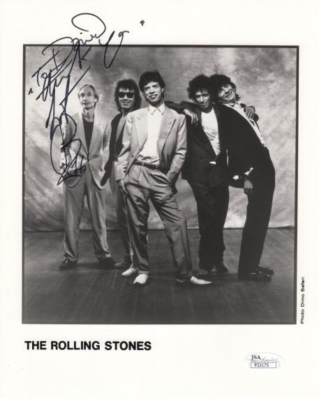 CHARLIE WATTS HAND SIGNED 8x10 PHOTO        ROLLING STONES     TO DAVID      JSA