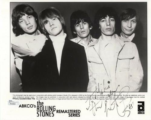 CHARLIE WATTS HAND SIGNED 8x10 PHOTO        ROLLING STONES     TO MIKE       JSA