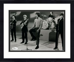 CHARLIE WATTS HAND SIGNED 8x10 PHOTO     THE ROLLING STONES     TO CHRIS     JSA