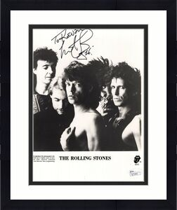 CHARLIE WATTS HAND SIGNED 8x10 PHOTO     THE ROLLING STONES     TO KEVIN     JSA