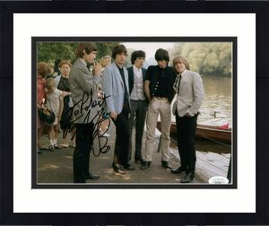 CHARLIE WATTS HAND SIGNED 8x10 PHOTO     THE ROLLING STONES    TO ROBERT     JSA