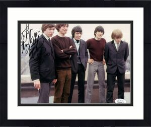 CHARLIE WATTS HAND SIGNED 8x10 COLOR PHOTO    THE ROLLING STONES   TO RON    JSA
