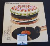 Charlie Watts Rolling Stones Let Bleed Autographed Signed LP Beckett Certified