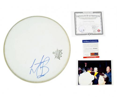 Charlie Watts Rolling Stones Signed Drumhead Psa/Dna Coa AFTAL
