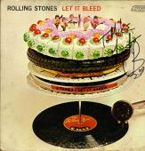 Charlie Watts Rolling Stones Signed To Mike Let It Bleed Album Cover UACC RD COA