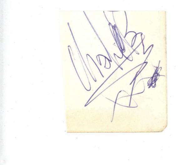 Charlie Watts Signed 1.75x2.25 Album Page Beckett BAS