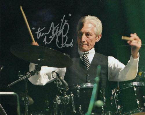 Charlie Watts Signed Autograph 8x10 Photo - Legend, Rolling Stones Drummer, Rare