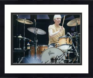 Charlie Watts Signed Autograph 8x10 Photo - Legendary The Rolling Stones Drummer