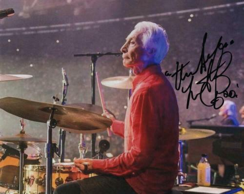 Charlie Watts Signed Autograph 8x10 Photo - Rolling Stones, Beggars Banquet