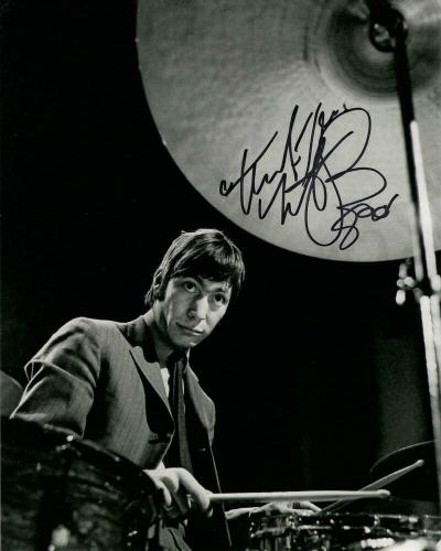Charlie Watts Signed Autograph 8x10 Photo - Rolling Stones Drummer, Some Girls
