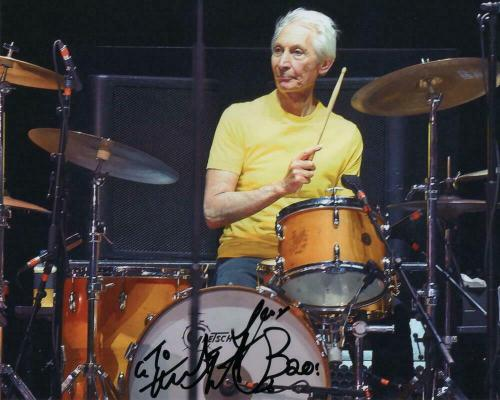 Charlie Watts Signed Autograph 8x10 Photo - Rolling Stones Drummer, Tattoo You