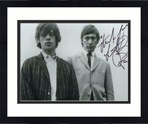 Charlie Watts Signed Autograph 8x10 Photo - Rolling Stones Dummer W/ Mick Jagger