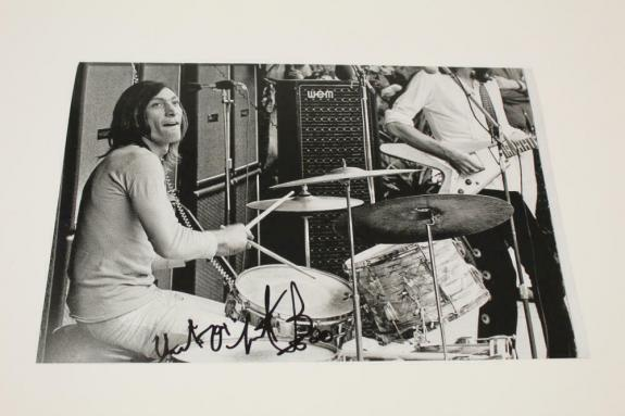 Charlie Watts Signed Autograph 8x12 Photo - Rolling Stones  Some Girls Acoa Coa