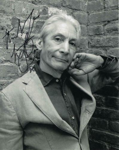 Charlie Watts Signed Autograph 8x10 Photo - Rolling Stones, Sticky Fingers Icon