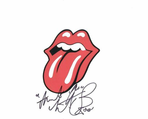 Charlie Watts Signed Autograph 8x10 Photo - Rolling Stones Tongue And Lips Logo