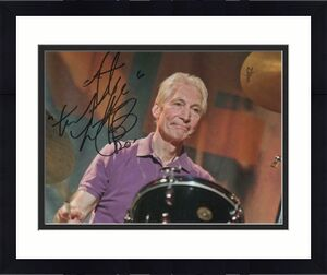 Charlie Watts Signed Autograph 8x10 Photo - The Rolling Stones Drummer, Rare!!