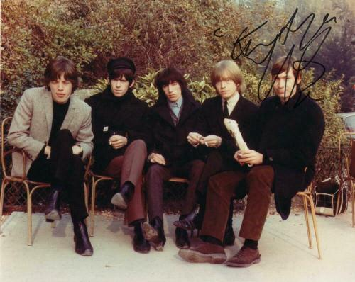 Charlie Watts Signed Autograph 8x10 Photo Very Young Rolling Stones Group Photo