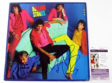 Charlie Watts Signed LP Record Album Rolling Stones Dirty Work w/ JSA AUTO