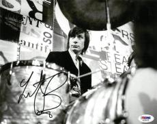 Charlie Watts Signed Rolling Stones Autographed B/W 8x10 Photo PSA/DNA #AC60175