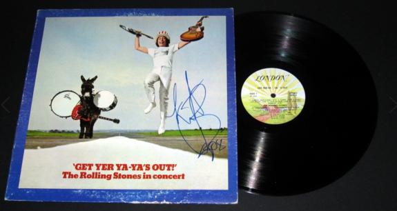 Charlie Watts Signed Rolling Stones Get Yer Ya-Ya's Out! Album Cover - BB COA