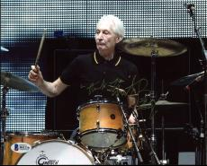 Charlie Watts The Rolling Stones Signed 8X10 Photo BAS #B41216